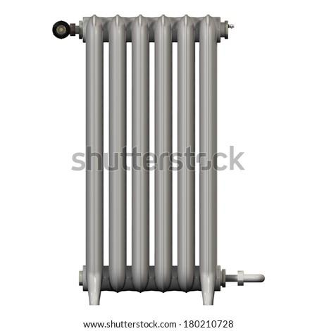 heat radiator heating - stock photo