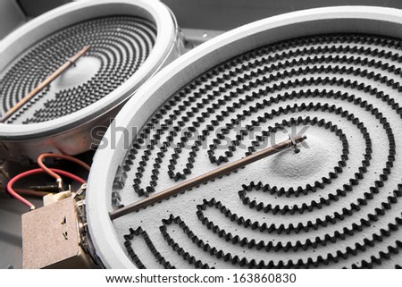 heater for electric stoves and oven - stock photo