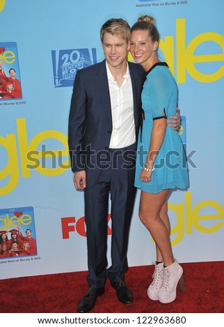 "Heather Morris & Chord Overstreet at the season four premiere of ""Glee"" at Paramount Studios, Holywood. September 12, 2012  Los Angeles, CA Picture: Paul Smith - stock photo"