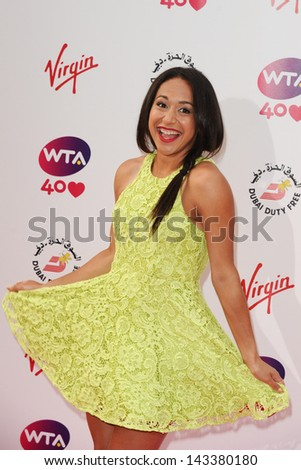 Heather Watson arriving for the WTA Pre-Wimbledon Party 2013 at the Kensington Roof Gardens, London. 20/06/2013 - stock photo