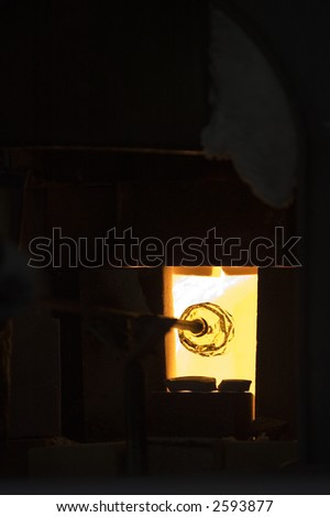 Heating kiln - stock photo