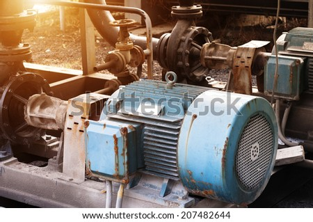 heating system equipment,old equipment - stock photo