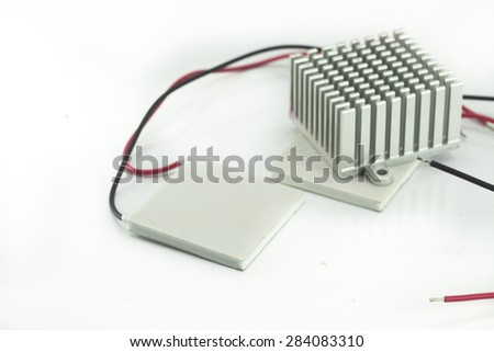 Heatsink Thermoelectric Cooling Cooler Peltier Plate - stock photo