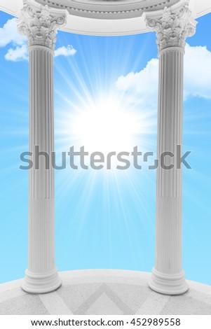 Heaven door  - stock photo