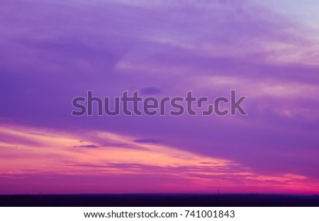 Heaven, Earth, Wind and Sun. Colorful natural texture of sunset and sunrise. Elements of nature