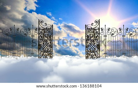 heaven gate - stock photo