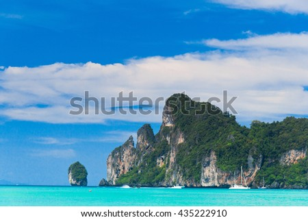 Heaven Horizon Blue Seascape  - stock photo