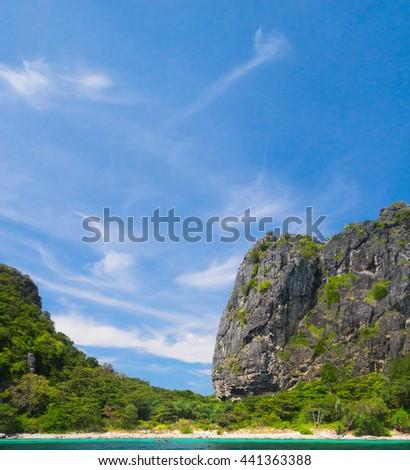 Heaven Horizon Tranquil Bay  - stock photo