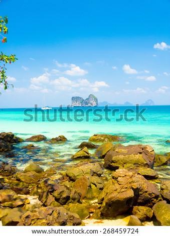 Heaven On Earth Sea Scene  - stock photo