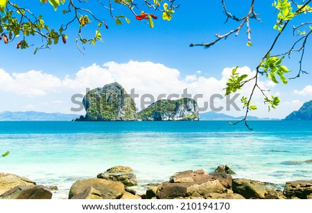 Heaven On Earth Serenity Shore  - stock photo