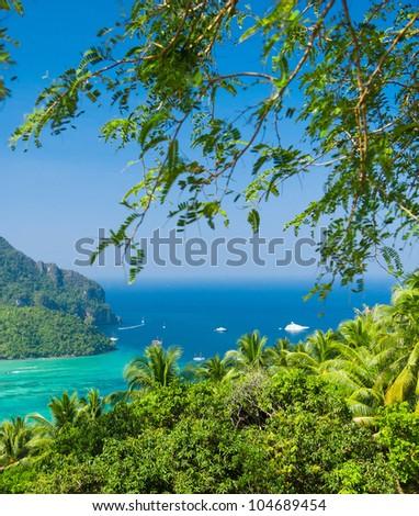 Heaven Seascape Azure Bay - stock photo