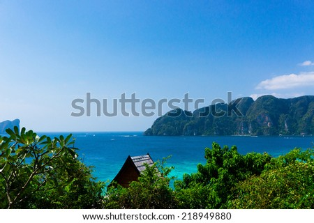 Heaven Seascape Idyllic Panorama  - stock photo