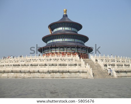 Heaven Temple -- one of the most popular/hot tourist spots  in Beijing China