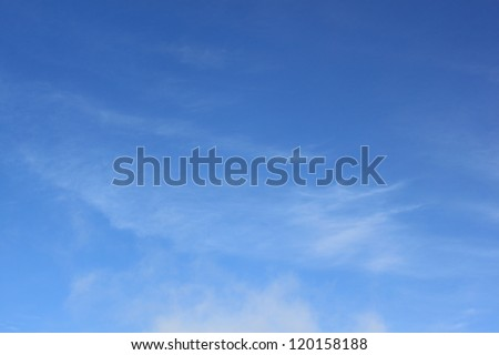 Heaven with soft clouds - stock photo