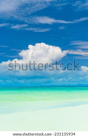 Heavenly Blue Serene Waters  - stock photo