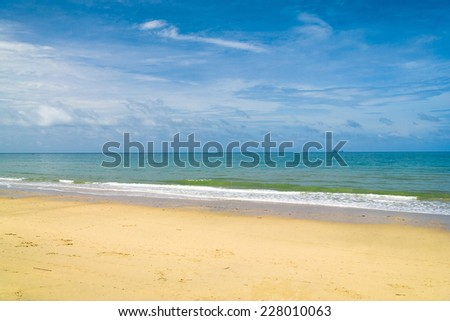 Heavenly Blue Shore Landscape