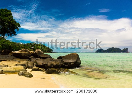 Heavenly Cove Idyllic Island  - stock photo
