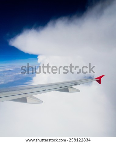 Heavenly Scene Skies above and below  - stock photo