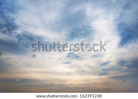 Heavenly sky - stock photo