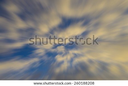 Heavenly symbolic zoom blurred abstract of Clouds - stock photo