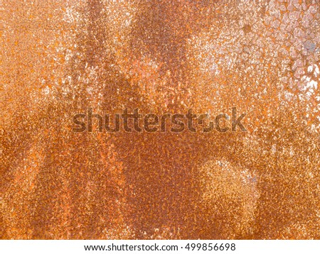 Heavily rusted iron panel steel construction background texture pattern