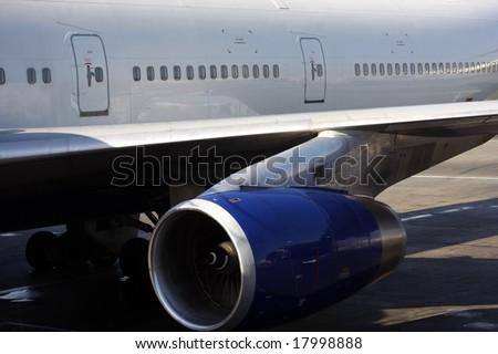 heavy aircraft loading - stock photo