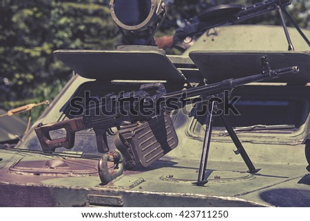 heavy assault rifle - stock photo