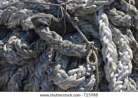 Snake knot stock photos images pictures shutterstock for Heavy rope for nautical use