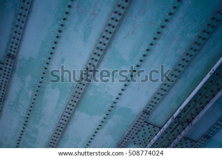 heavy iron construction with rivets
