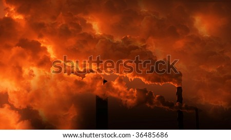 Heavy pollution - stock photo
