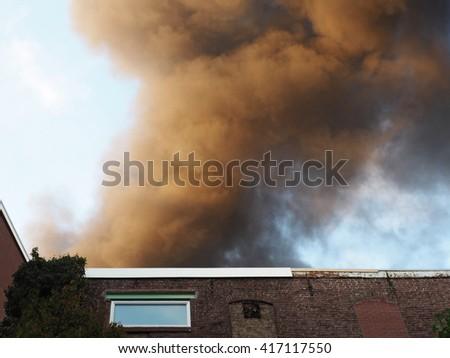 Heavy smoke       - stock photo