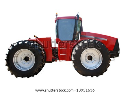 heavy tractor isolated