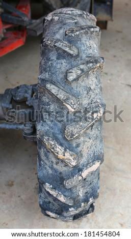 Heavy transport wheel - stock photo