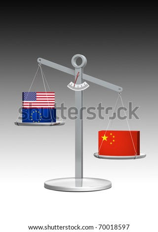 heavy weight china - conceptual rendering concerning global economic development
