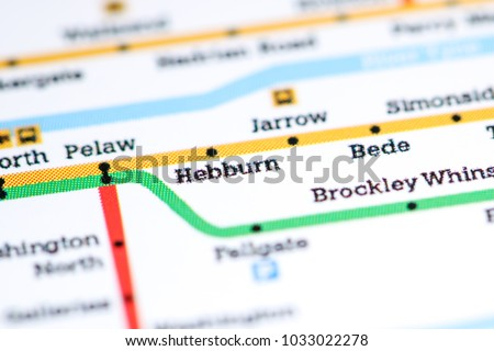 Chichester Station Newcastle Metro Map Stock Photo 1033022314