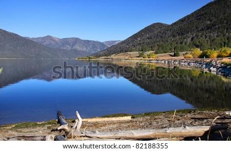 Hebgen lake near yellowstone national park - stock photo