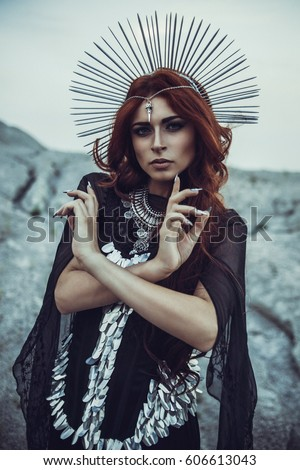 Redhead devilgirl goddess
