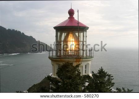 Heceta Head lighthouse - stock photo