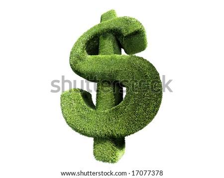 hedge dollar symbol - stock photo