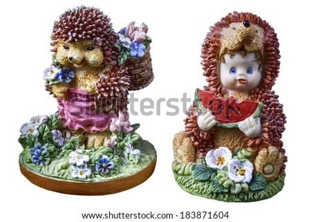 Hedgehog decoration as a toy - stock photo