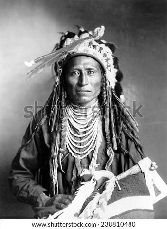 Heebe-tee-tse of the Shoshone Nation. Ca 1899 - stock photo