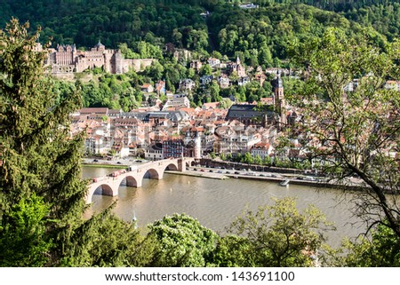 Heidelberg at spring, Germany    Save to a lightbox?   find similar images   share? View on Heidelberg at spring, Germany - stock photo