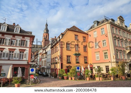 Heidelberg city, Germany - stock photo