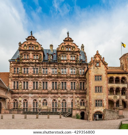 Heidelberg historic architecture - stock photo