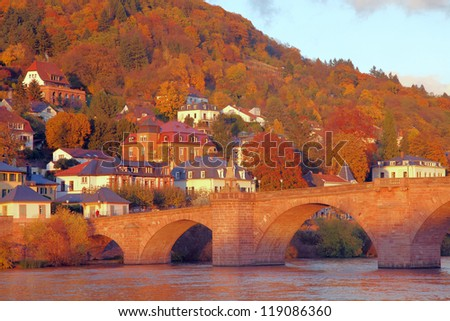 Heidelberg in the fall - stock photo