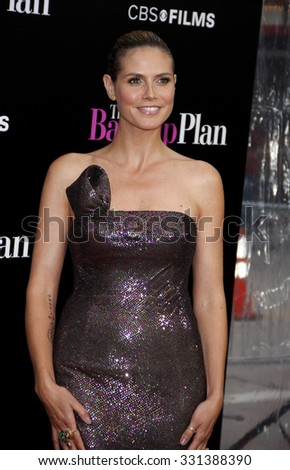 """Heidi Klum at the Los Angeles premiere of """"The Back-Up Plan"""" held at the Westwood Village Theater in Hollywood, USA on April 21, 2010. - stock photo"""