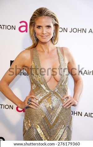 Heidi Klum at the 21st Annual Elton John AIDS Foundation Academy Awards Viewing Party held at the Pacific Design Center in West Hollywood on February 24, 2013. - stock photo