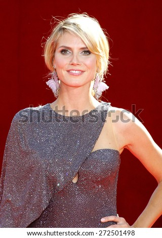 Heidi Klum at the 60th Primetime EMMY Awards held at the Nokia Theater in Los Angeles, California, United States on September 21, 2008.  - stock photo