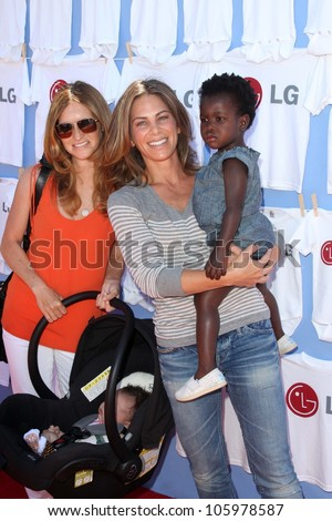 Heidi Rhoades, Jillian Michaels and daughter Lukensia at LG's Day of Good Clean Fun, Asconia Mansion, Beverly Hills, CA 06-23-12