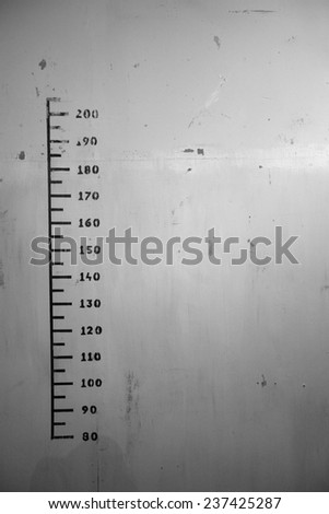 Height chart wall; monochrome
